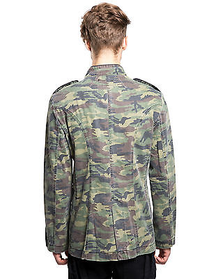 TRIPP MILITARY GOTH BAND ARMY GOTHIC JACKET COAT PUNK UNIFORM CAMO BD7368M Clothing, Shoes & Accessories