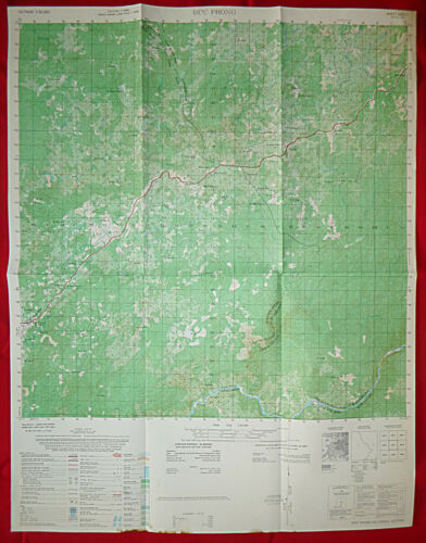 6432 i - MAP - US Special Forces Base - DUC PHONG (A-343) - 1966 - Vietnam War