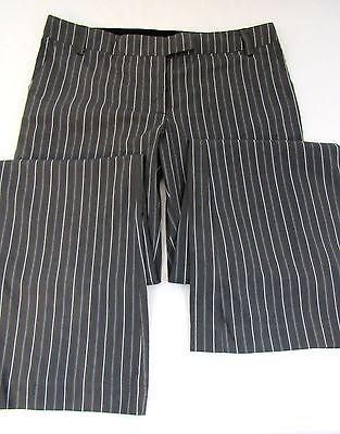 - NEW ARDEN B Grey Stripe Bootcut Ladies Cotton Pants Trousers Size 10