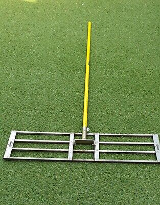 1m-wide Levelawn / Level Lawn / Levelling Rake with Handle. Used.