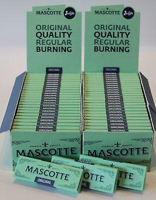 2x50 Mascotte Original Zigarettenpapier/Papers/Blättchen/Regular *NEU*