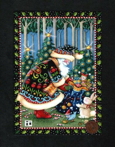 CHRISTMAS MARY ENGELBREIT Santa Rabbit Presents - GREETING CARD New W/ TRACKING