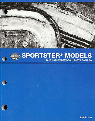 2010 HARLEY-DAVIDSON SPORTSTER MODELS PARTS CATALOG MANUAL -XL883-XL1200
