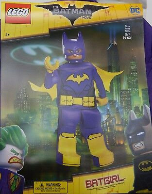 Halloween Lego Batman Movie Batgirl Costume Size Small 4-6 NWT
