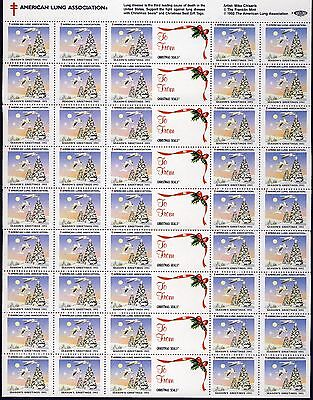 1993 US Christmas Seal . Sheet of 36 + Labels . Mint Never Hinged