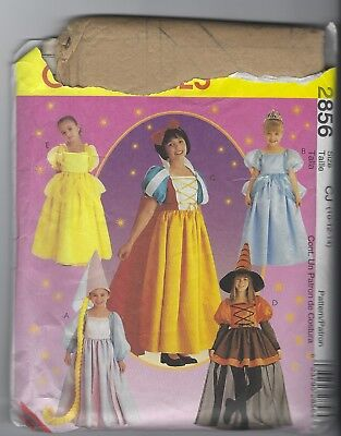 NEW MCCALLS 2856 GIRLS STORYBOOK COSTUMES CINDERELLA BELLE PRINCESSES SZ 10-14 (Plus Size Princess Belle Costume)