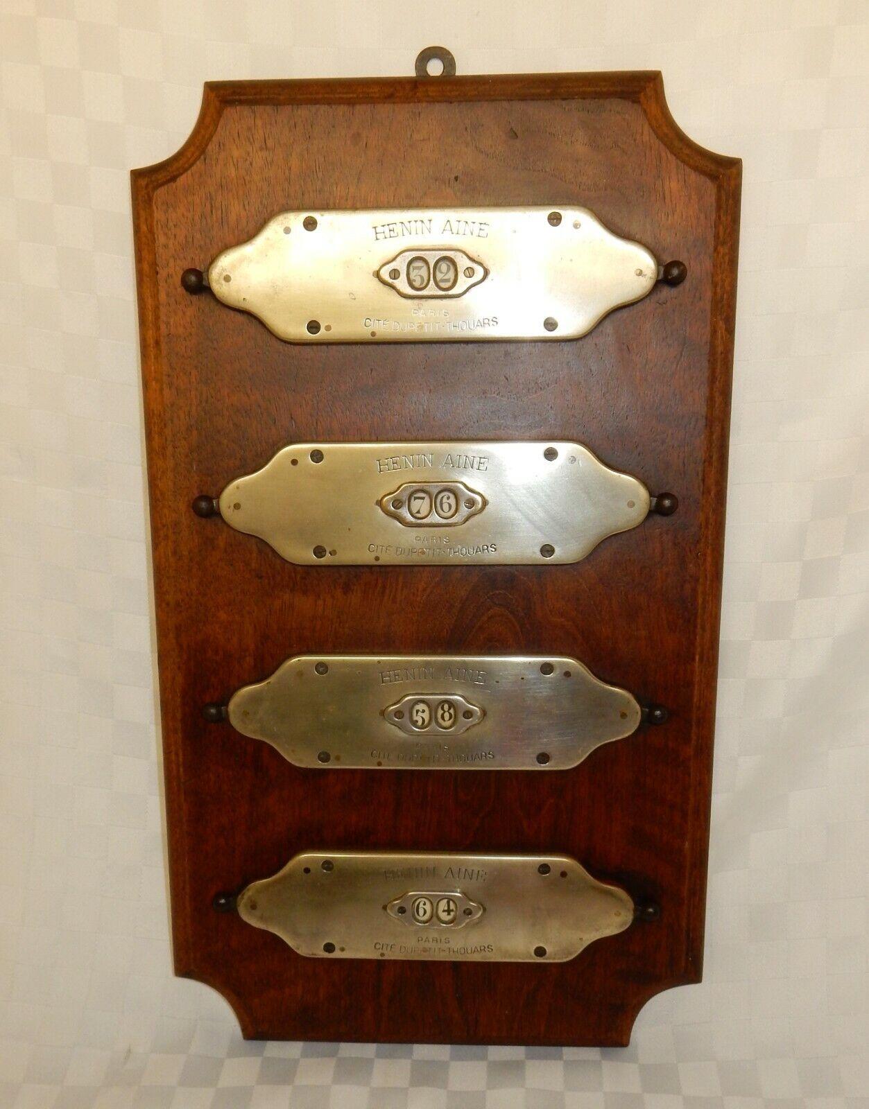 Antique French Mahogany Aine Billiard Pool Score Board Markers