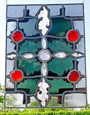 las Fensterbild sakrales, abstraktes, modernes Kreuz    (Glasmalerei Kreuze)