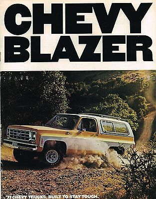 1977 Chevy BLAZER Brochure / Pamphlet with Color Chart: C10,K10,C/K,10,4x4,4WD