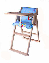 New Natural Wooden Foldable Chair Wooden Folding Baby Highchair Richlands Brisbane South West Preview