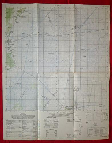 6029 iv - TRI TON - Vietnam War - SECRET 1970 MAP - USSF BASE, Cambodia Invasion