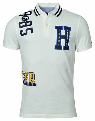 Tommy Hilfiger Men's Custom Fit Graphic Logo Polo Shirt