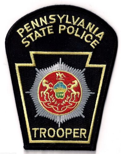 PENNSYLVANIA STATE POLICE TROOPER - SHOULDER PATCH - IRON OR SEW-ON PATCH