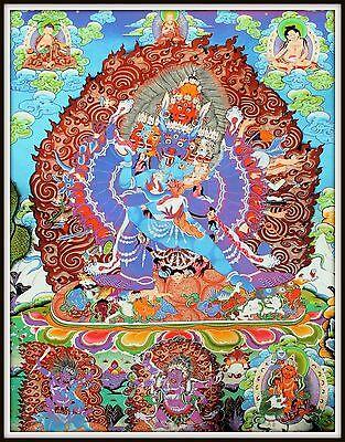 """Mysterious!   """"Thankga Fine Art Print from Tibet""""   (35"""" High x 30"""" Wide)"""