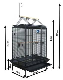 Budtrol Cage 222cm bird cage aviary with toy hanger