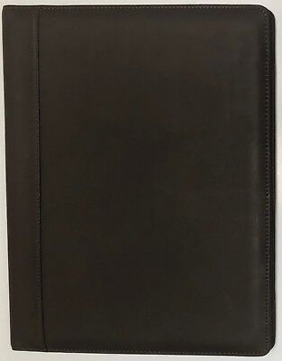 Real Leather Portfolio Padfolio Insert For Writing Pad Presentation Folder