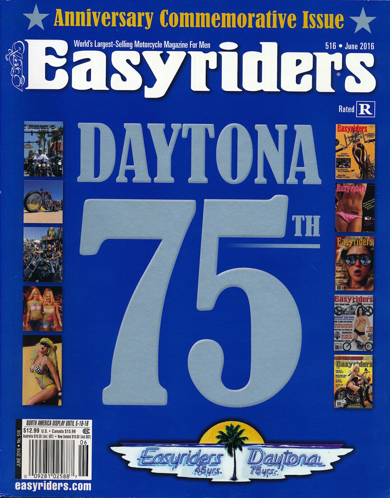 EASYRIDERS June 2016 Motorcycle Magazines CUSTOM Leather V-TWIN Edition 127009 - $2.00