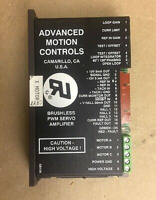 Advanced Motion Controls Brushless Pwm Servo Amplifier B12a6d