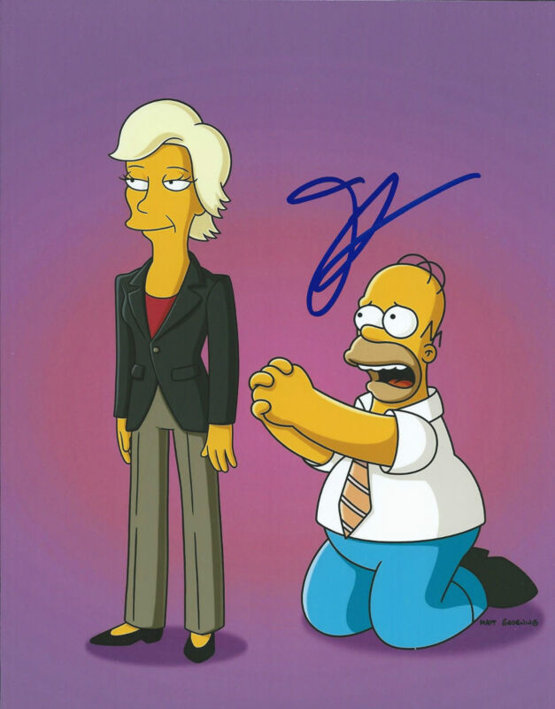 **GFA The Simpsons-Glee *JANE LYNCH* Signed 8x10 Photo MH1 COA**