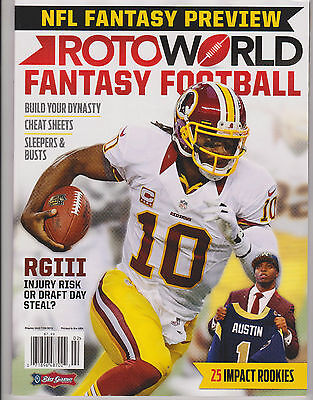 Rotoworld Nfl Fantasy Football Magazine 2013  Sleepers    Busts Cheat Sheets
