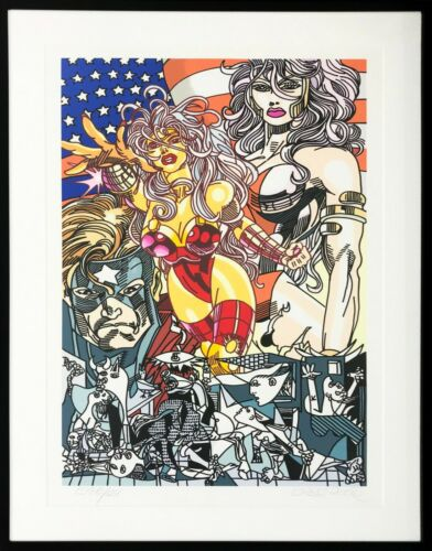 "Gudmundur Erro ""miss America"" 2006   Rare Signed Screenprint   Framed   Gallart"