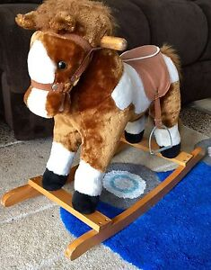 Plush Vintage Rocking Horse with Saddle Werrington Penrith Area Preview