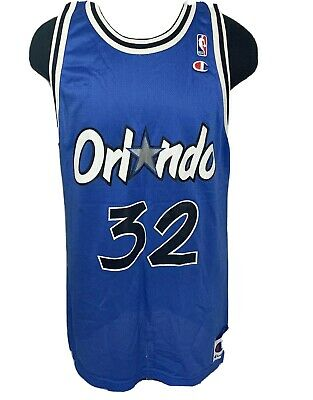 Vintage Champion Jersey Orlando Magic Shaq Shaquille O'Neal #32 90s NBA 48