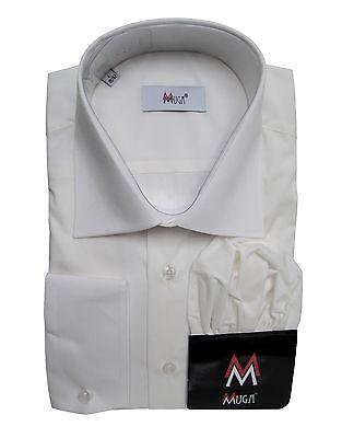 Herren Hemd mit Einstecktuch Muga*012*Gr.M Creme