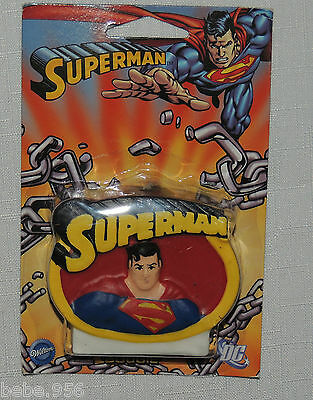 NEW  SUPERMAN  1-WAXCANDLE, MULTI-COLOR   PARTY SUPPLIES (Multicolor Party Supplies)