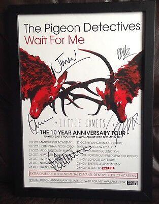 The Pigeon Detectives Signed & Framed 2017 Tour Poster