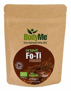 BodyMe Organic Fo-Ti Root Powder | 50g | He Shou Wu | Soil Association Certified