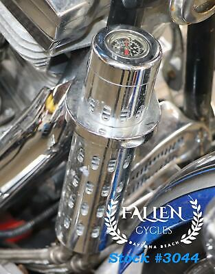 #3044 Harley EVO Pro 1 Racing Oil Cooler w/ Gauge for 1 to 1 1/4
