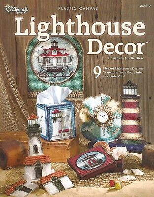 Lighthouse Decor Plastic Canvas Patterns Nautical Coasters Tissue Box Covers