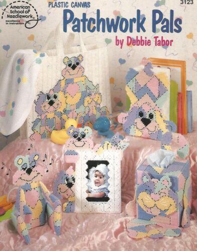 Patchwork Pals Nursery Cat Dog Tote Tissue Box Plastic Canvas Patterns ASN 3123