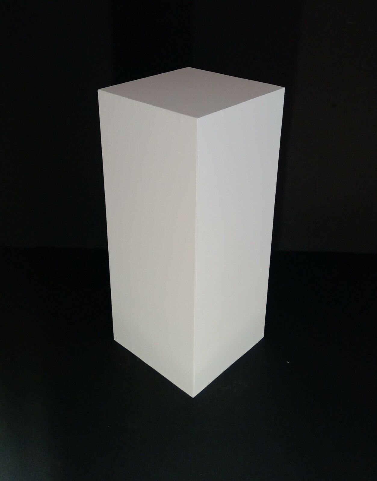 "36"" Tall White Display Pedestal Stand Riser Column Pillar -"