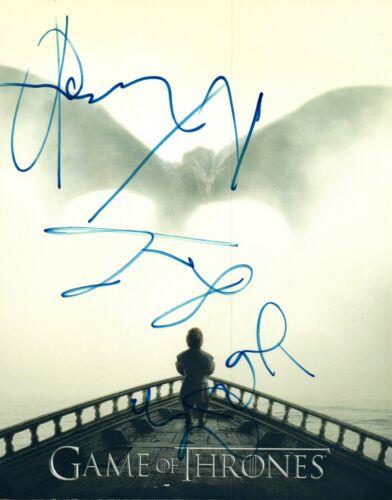 Game of Thrones Cast Signed 8x10 Photo Kristofer Hivju Cunningham Bradley COA VD