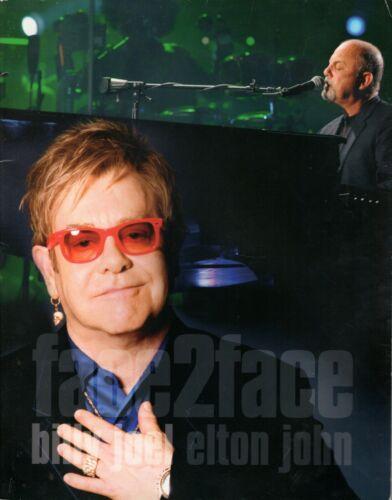 "BILLY JOEL & ELTON JOHN 2010 ""FACE 2 FACE"" TOUR PROGRAM CONCERT BOOK-EX 2 NMT"