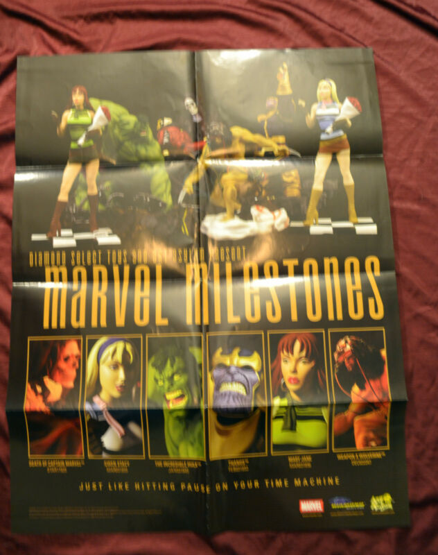 Marvel Milestones Statue Promo Poster Miniatures Character List