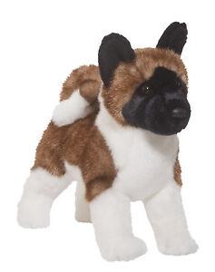 DOUGLAS-16-Akita-Dog-soft-stuffed-plush-Furry-Animal-toy-1994-FREE-SHIPPING-USA