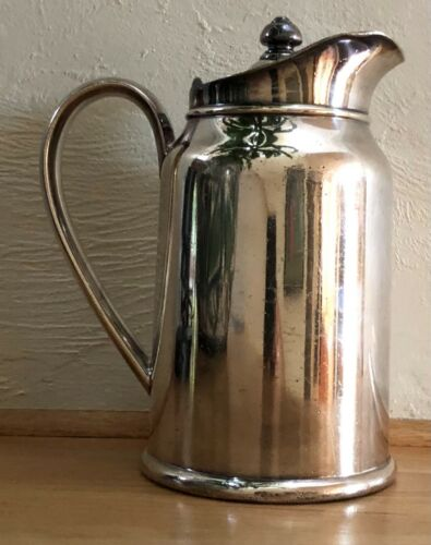 Park Lane Hotel Reed and Barton Soldered Silver Coffee Pitcher