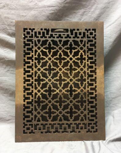 Antique Cast Iron Gothic Style Heat Grate Floor Register 12x17  Vtg Old   14-18C