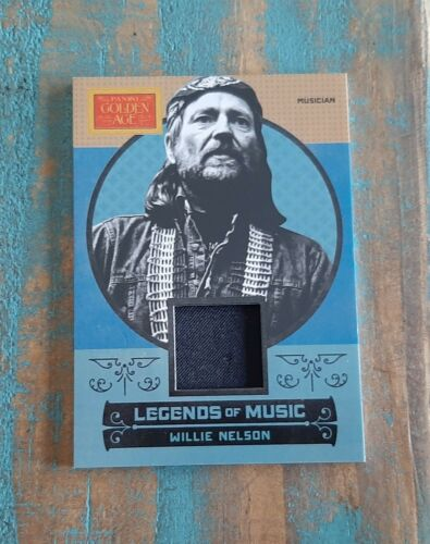 WILLIE NELSON SHIRT SWATCH RELIC ~ 2014 PANINI GOLDEN AGE #7 LEGENDS OF MUSIC !!