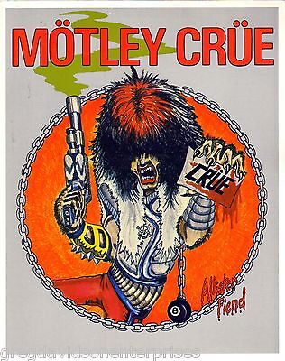 Allister Fiend 8x10 Lithograph w Bio Motley Crue Shout At the Devil