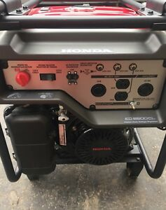 Honda Generator EG6500CL with wheel kit and receipt