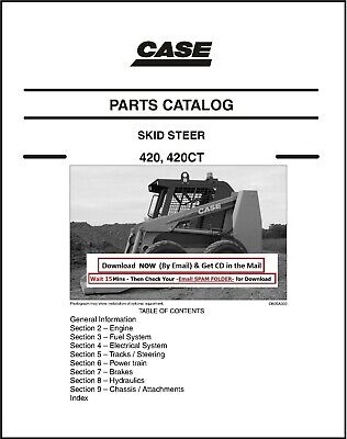 Case 420 420ct Skid Steer Service Parts Manualcatalog