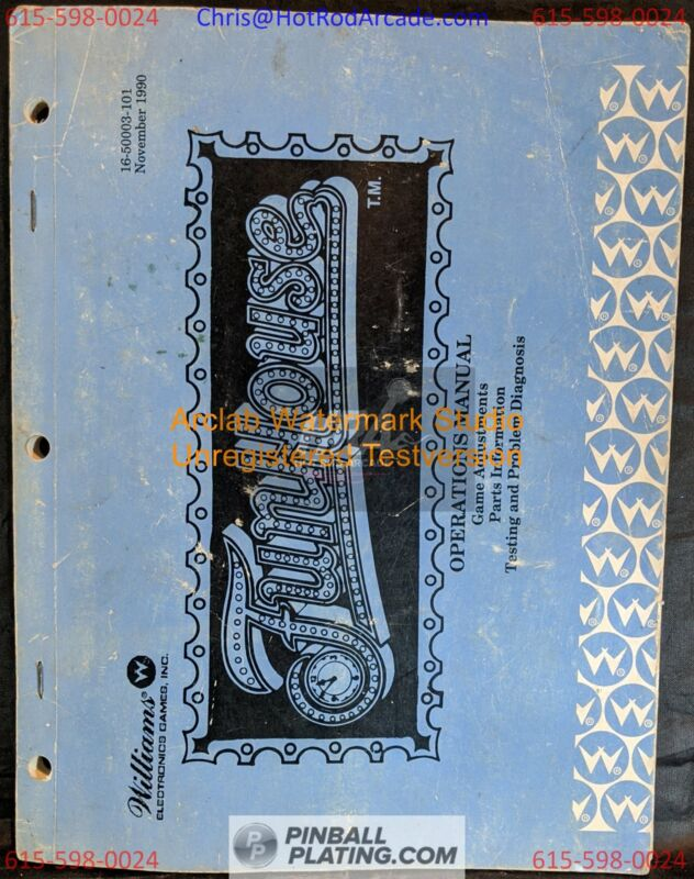 Funhouse - Williams - Pinball Manual - Used Copy - FREE SHIPPING!