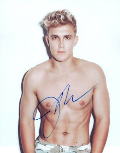 Jake Paul Signed Autographed 8x10 Photo Bizaardvark Actor Shirtless Pose COA