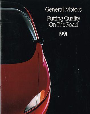 1991 GM General Motors Brochure/Catalog;CHEVY,CADILLAC,BUICK,OLDSMOBILE,PONTIAC,