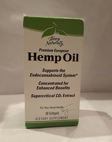 Terry Naturally Premium European Hemp Oil 60 Gels Concentrated 4/2020 - $19.87