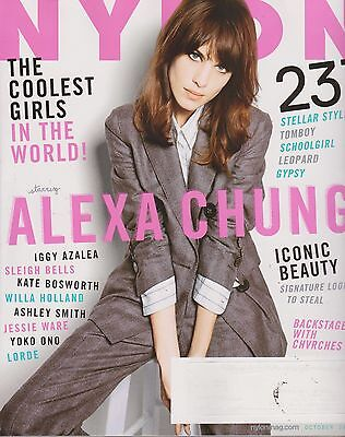 NYLON Magazine October 2013,Alexa Chung,The Coolest Girls In The WORLD! W/LABEL.